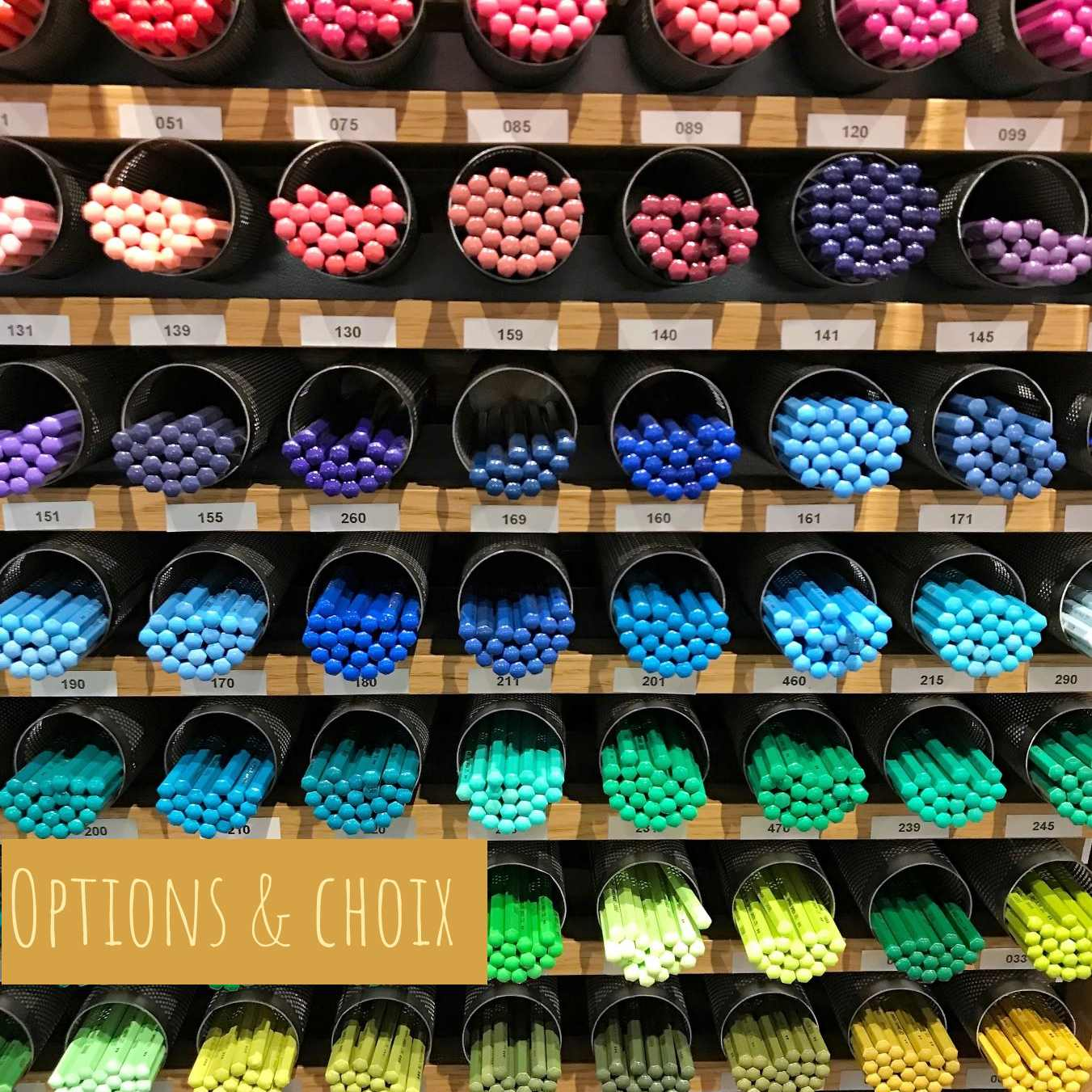 A range of multiple crayons from many different colours that illustrate the choice and the options we all have